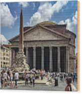 Fontana Del Pantheon Wood Print