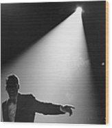 Frank Sinatra On Stage Wood Print