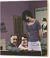 Frank Zappa & His Parents Wood Print