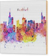Frankfurt Skyline Wood Print