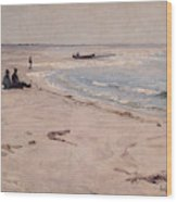 From The Beach At Sele  Wood Print