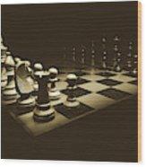 Game Of Kings Wood Print