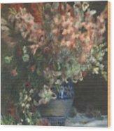 Gladioli In A Vase  Wood Print