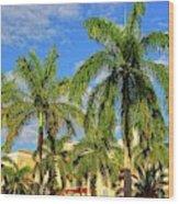 Glorious Palms Wood Print