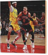 Golden State Warriors V Chicago Bulls Wood Print