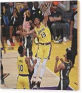 Golden State Warriors V Los Angeles Wood Print