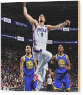 Golden State Warriors V Philadelphia Wood Print