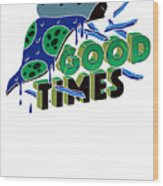 Good Old Times Pizza Fries Born In The 90s Husband Wife Wood Print