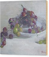 Greek Grapes Wood Print