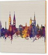 Halberstadt Germany Skyline Wood Print