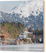 Halibut Cove Kenai Peninsula Alaska Wood Print