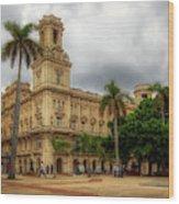 Havana's Palacio Del Centro Asturiano Wood Print