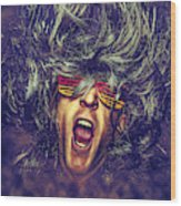 Heavy Metal Rock Star Wood Print