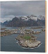 Henningsvaer Lofoten Wood Print