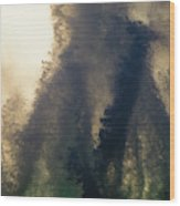 High Surf Explosion Wood Print