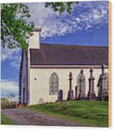 Holy Cross Cemetery And Our Lady Of Sorrows Chapel Wood Print