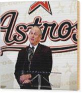 Houston Astros Sign Nolan Ryan To Wood Print