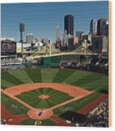 Houston Astros V Pittsburgh Pirates Wood Print