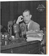 Howard Hughes Testifying During Senate Wood Print