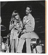 Ike & Tina At The Greek Wood Print