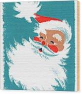 Illustration Of Santa Claus Wood Print