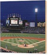 Indians V White Sox Wood Print