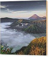 Indonesia Mount Bromo Wood Print