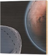 Interplanetary Transport System 4 Wood Print