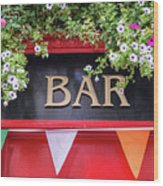 Irish Bar In Dublin Wood Print
