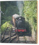 J27 Locomotive 65894 On North York Moors Railway Wood Print