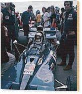Jackie Stewart At The Wheel Of A Racing Wood Print