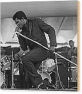 James Brown At Newport Jazz Festival Wood Print