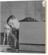 Jimmy Hoffa Testifying Before Senate Wood Print