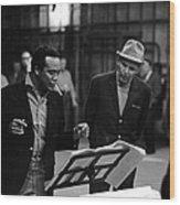 Jones & Sinatra In Studio Wood Print