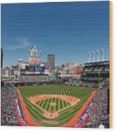 Kansas City Royals V Cleveland Indians Wood Print