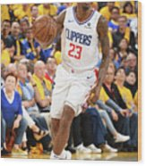 La Clippers V Golden State Warriors - Wood Print