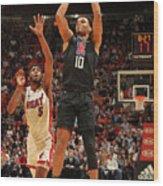 La Clippers V Miami Heat Wood Print