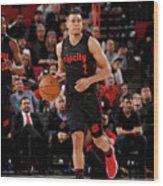 La Clippers V Portland Trail Blazers Wood Print