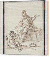 La Virgen Dolorosa   Wood Print