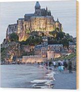 Le Mont Saint Michel, Normandy, France Wood Print