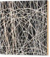 Lighttrails Wood Print