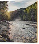 Lochsa Sunrise Wood Print