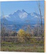 Longs Peak In The Fall  Wood Print