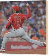 Los Angeles Angels Of Anaheim  V Wood Print