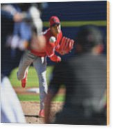 Los Angeles Angels Spring Training Wood Print