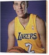 Los Angeles Lakers Introduce Lonzo Ball Wood Print