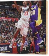 Los Angeles Lakers V La Clippers Wood Print