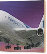 Malaysia Airlines Airbus A380-841 Wood Print