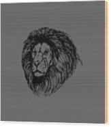 Male Lion Wood Print