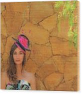 Mamin With Hat Wood Print